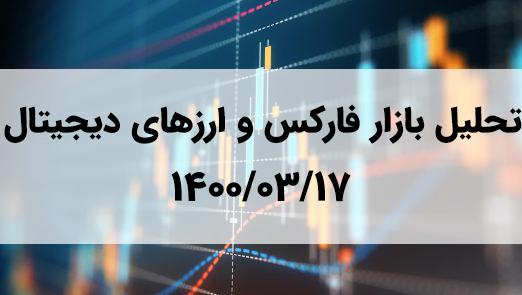 تحلیل تکنیکال بازار فارکس و ارزهای دیجیتال | ۱۴۰۰/۰۳/۱۷